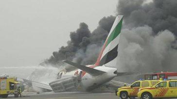 Crash Landing At Dubai Airport