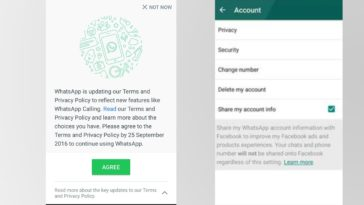 WhatsApp New Terms N Conditions